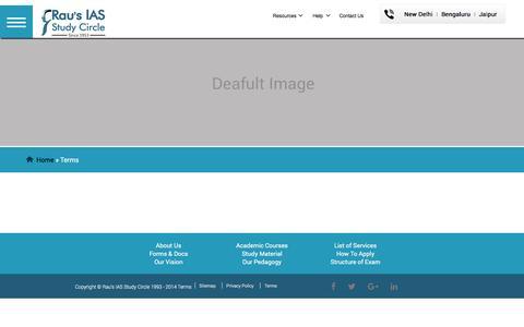 Screenshot of Terms Page rauias.com - Terms - captured Dec. 3, 2016