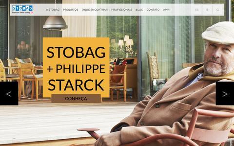 Screenshot of Home Page stobag.com.br - Stobag - captured Feb. 24, 2016