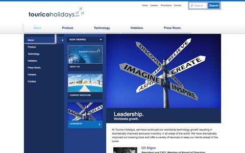 Screenshot of Team Page touricoholidays.com - Leadership - TouricoHolidays.comTouricoHolidays.com - captured March 29, 2016
