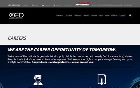 Screenshot of Jobs Page mosebach.com - » CAREERS - captured Jan. 24, 2016