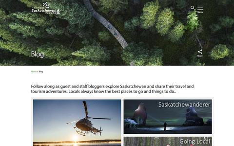 Screenshot of Blog tourismsaskatchewan.com - Blog    | Tourism Saskatchewan - captured Dec. 15, 2016