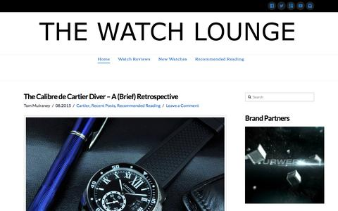 Screenshot of Home Page thewatchlounge.com - The Watch Lounge - The Luxury Watch Lover's Magazine - captured Aug. 4, 2015
