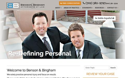 Benson & Bingham: Las Vegas & Henderson Personal Injury and