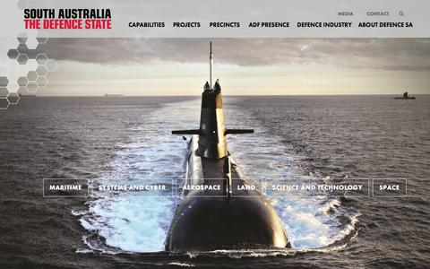 Screenshot of Home Page defencesa.com - South Australia the Defence State - captured Aug. 1, 2016