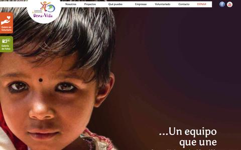 Screenshot of Home Page dona-vida.org - Cooperación Internacional Dona Vida - captured Nov. 12, 2016