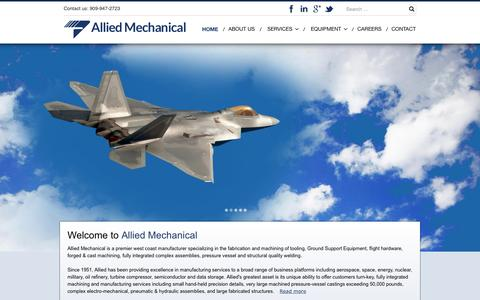 Screenshot of Home Page alliedmech.com - Allied Mechanical - captured June 19, 2015