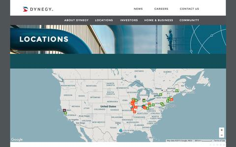 Screenshot of Locations Page dynegy.com - Locations | dynegy.com - captured Aug. 2, 2016