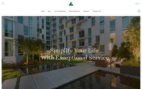 Screenshot of Home Page bozzuto.com - Apartments for Rent - Luxury Apartments - Rent Apartments | Bozzuto - captured July 13, 2018