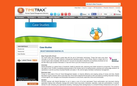 Screenshot of Case Studies Page timetrax.com.pk - TimeTrax - Case Studies - how we have helped clients with our Human Resource Management solutions - captured Sept. 24, 2014