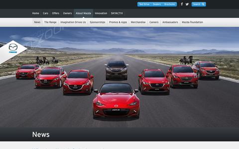 Screenshot of Press Page mazda.com.au - Mazda Australia Latest News - captured Oct. 27, 2015