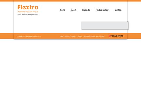 Screenshot of Products Page flextra.co.za - Expansion Joint Product Range | Expansion Joint | Flextra Engineered ProductsFlextra - captured Oct. 10, 2018