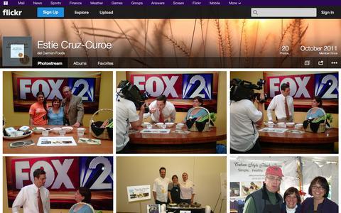Screenshot of Flickr Page flickr.com - Flickr: del Carmen Foods' Photostream - captured Oct. 23, 2014