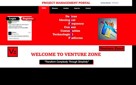 Screenshot of Home Page omniclient.zone - Venture Zone / Start - captured Oct. 5, 2014