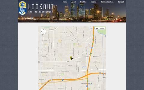 Screenshot of Maps & Directions Page lookoutcap.com - Map - Lookout Capital Management | Houston Independent Investment Advisor - captured Oct. 3, 2014