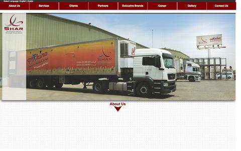 Screenshot of Home Page shar.com.sa - Shar - captured Oct. 4, 2014