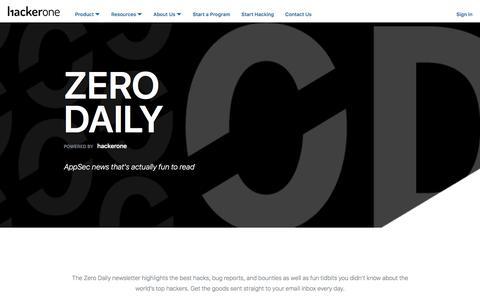 Zero Daily | HackerOne