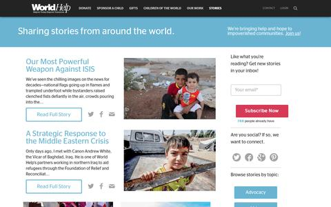 Screenshot of Blog worldhelp.net - Stories From Around The World - captured Sept. 19, 2014