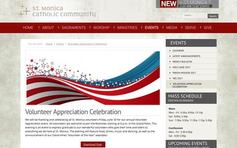 Screenshot of stmonica.net - Volunteer Appreciation Celebration - captured June 2, 2017