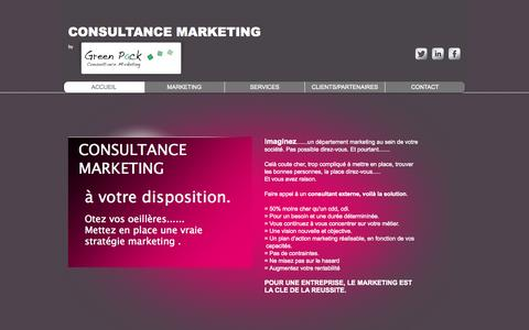 Screenshot of Home Page consultancemarketing.com - consultance marketing - Fabrice Eccher - consultant - captured Oct. 3, 2014