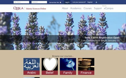 Screenshot of Home Page qibla.com - Home - Qibla - captured Jan. 27, 2016