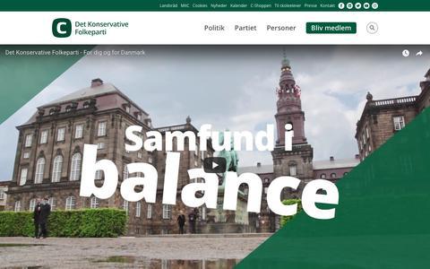 Screenshot of Home Page konservative.dk - Det Konservative Folkeparti - captured Oct. 8, 2018