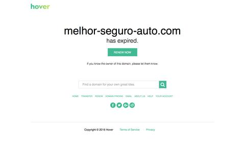 Screenshot of Home Page melhor-seguro-auto.com - melhor-seguro-auto.com is expired - captured Jan. 30, 2016