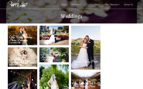 Screenshot of Blog brandonyuong.com - Wedding Photography - captured Oct. 31, 2014