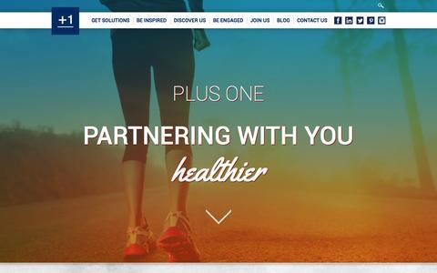 Screenshot of Home Page plusonehealthmanagement.com - Homepage - Plus One - captured June 19, 2015