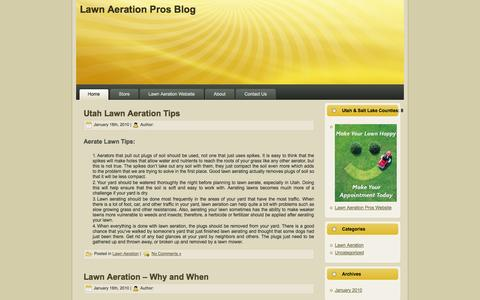 Screenshot of Blog lawnaerateutah.com - The Lawn Aeration Pros In Utah Blog | Lawn Care Tips - captured Oct. 26, 2014
