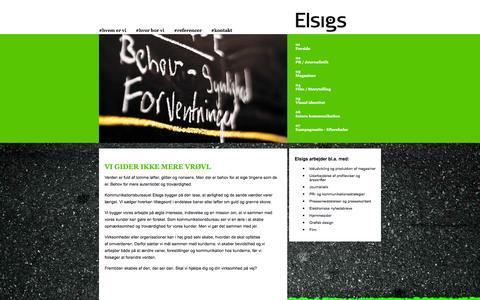 Screenshot of Home Page elsigs.dk - Kommunikationsbureau - Elsigs - captured Oct. 6, 2014