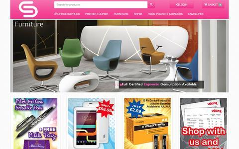 Screenshot of Home Page sundrysupplies.com - SundrySupplies Online Ordering - Home - captured Dec. 17, 2016