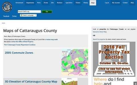 Screenshot of Maps & Directions Page cattco.org - Maps of Cattaraugus County | Cattaraugus County - captured Oct. 28, 2016