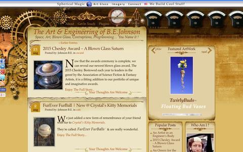 Screenshot of Blog imperialearth.com - The Art & Engineering of B.E.Johnson - captured Sept. 1, 2015