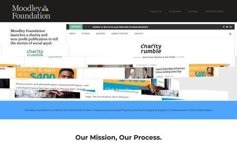 Screenshot of Home Page moodleyfoundation.org - Moodley Foundation - Social Program & Technology Investment - captured July 8, 2018