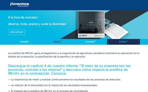 Screenshot of Landing Page cornerstoneondemand.com - RR. HH. liderando la transformación digital - captured April 9, 2018