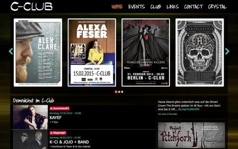 Screenshot of Home Page c-club-berlin.de - C-Club - Konzerte | Parties | Events - captured Jan. 28, 2015
