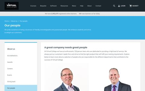 Screenshot of Team Page virtual-college.co.uk - Our People | Virtual College - captured Dec. 24, 2017
