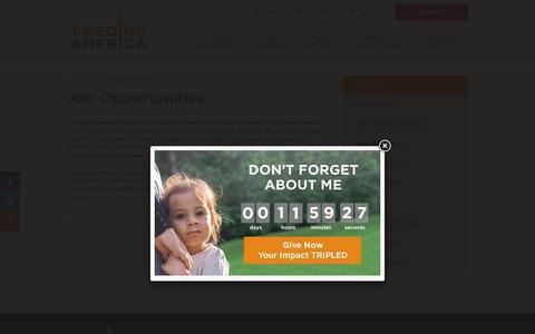 Screenshot of Jobs Page feedingamerica.org - Nonprofit Jobs   Feeding America - captured July 1, 2019