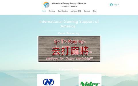 Screenshot of Home Page igsofamerica.com - Las Vegas|United States|International Gaming Support of America - captured Oct. 12, 2018