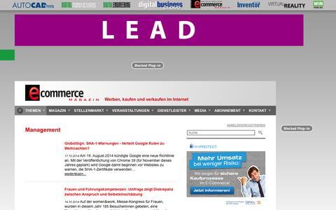 Screenshot of Team Page e-commerce-magazin.de - Management | E-Commerce Magazin - captured Nov. 3, 2014