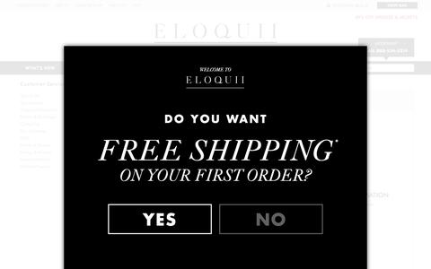 Screenshot of Support Page eloquii.com - Customer Service | FAQ and Contact Us | ELOQUII - captured Nov. 18, 2015