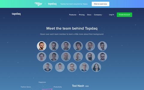 Screenshot of Team Page tapdaq.com - Tapdaq   Team - captured Nov. 18, 2018