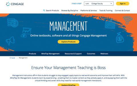 Screenshot of Team Page cengage.com - Management - Cengage - captured Feb. 17, 2018