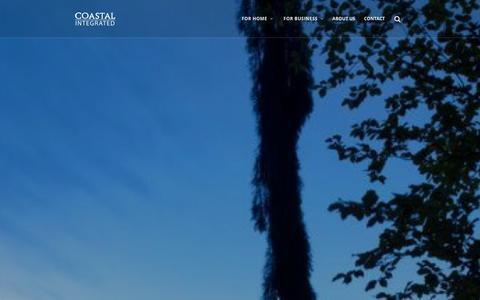 Screenshot of Home Page coastalintegrated.com - Coastal Integrated – Building Technology Working Together - captured Jan. 29, 2016