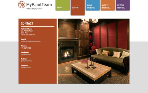 Screenshot of Contact Page mypaintteam.com - CONTACT | My Paint Team - captured Oct. 7, 2014