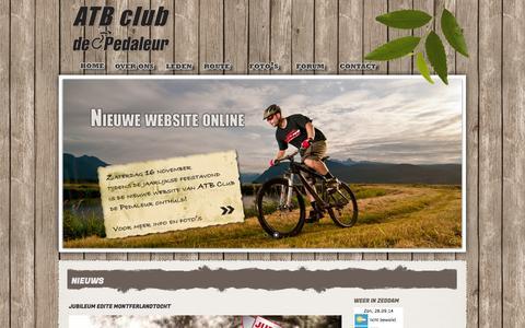 Screenshot of Home Page atbclubdepedaleur.nl - ATB Club De Pedaleur - captured Sept. 30, 2014