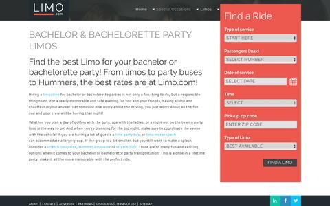 Bachelor & Bachelorette Party Limos | Limo.com