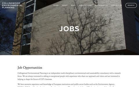 Screenshot of Jobs Page cep.co.uk - Jobs - captured Jan. 22, 2016