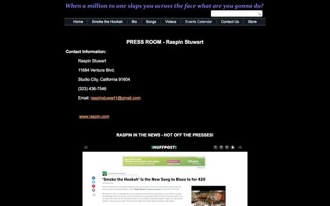 Screenshot of Press Page raspin.com - Raspin Stuwart - Press Room - captured Oct. 19, 2017