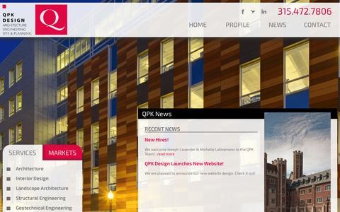 Screenshot of Press Page qpkdesign.com - QPK Design | Architectural Design | Syracuse NY - captured Oct. 28, 2014